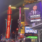 Domeno enters Times Square