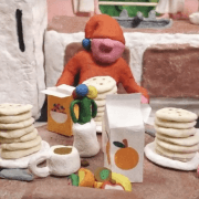 "GASPARD EDEN REVEALS A COLOURFUL 90S REVIVAL WITH HIS NEW CLAY ANIMATION VIDEO ""PANCAKES"""