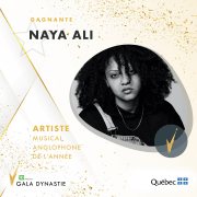 Naya Ali wins Dynastie Gala Anglophone Artist of the Year Award